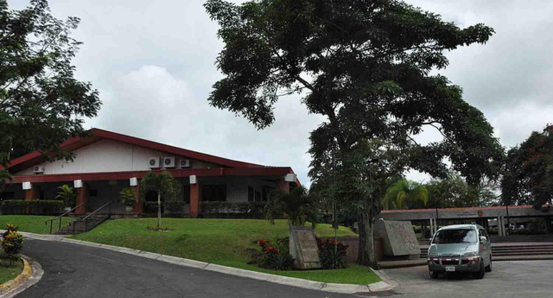 INCAE: Plaza Banderas at the Walter Kissling Gam Campus