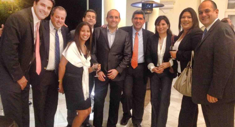 Arturo Condo, Rector de INCAE con participantes del evento