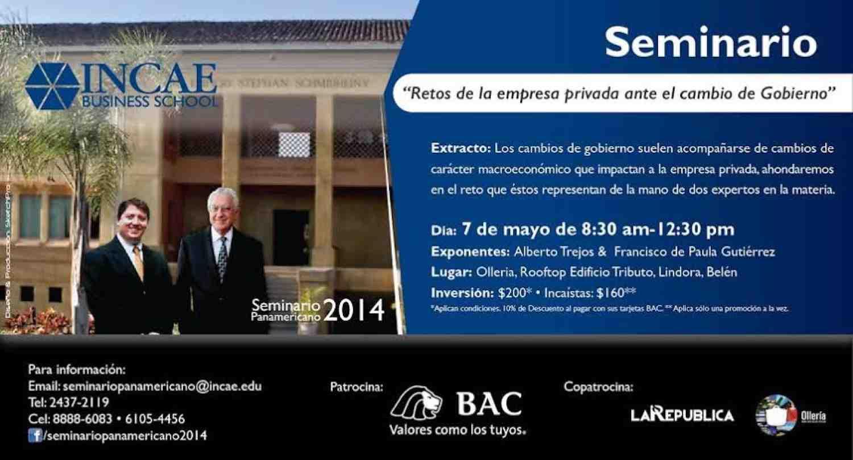 Seminario 'Retos de la empresa privada ante el cambio de Gobierno'