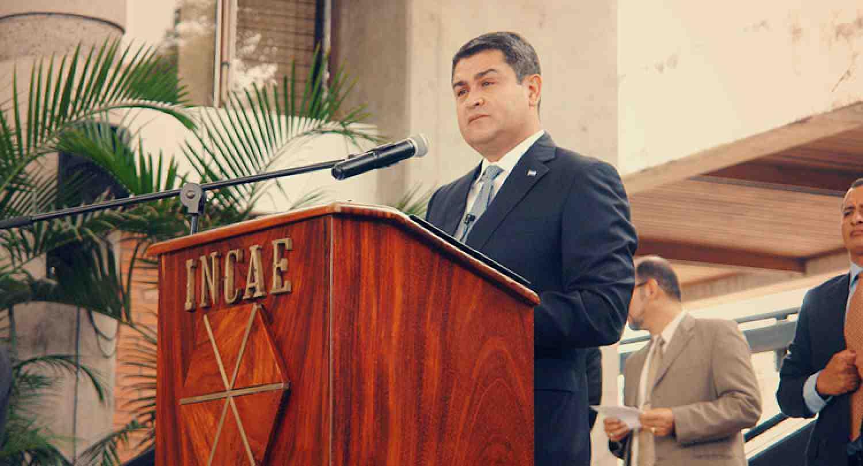 Presidente de Honduras Juan Orlando Hernández Alvarado